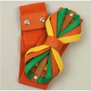 Accessories - Orange Bow-Tie Waist Belt
